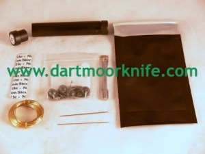 Survival Kit Tube with Contents for Dartmoor Knife